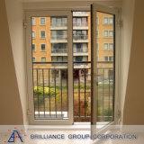 Porte extérieure moderne en aluminium en verre normale d'Au/Nz/Us double double