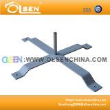 base trasversale del palo di bandierina del ferro di 60*50cm per fare pubblicità