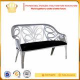 Edelstahl-Rahmen-Gewebe-Sitzwohnzimmer-Sofa (SF881)