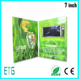 La meilleure coutume brochure visuelle de papier d'affichage à cristaux liquides de 7 pouces pour la publicité