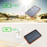 9000ah 태양 충전기 힘 은행 LED 플래쉬 등에서 건축되는 방수 휴대용 이중 USB 충전기