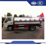 Depósito de leche del carro del acero inoxidable del tanque del enfriamiento de la leche del carro del transporte de la leche