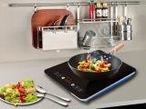 cocina de la inducción de la certificación de la FCC de 120V 1500W ETL con la placa Titanium colorida
