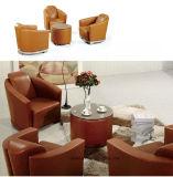 Sofa à base métallique de cuir de siège unique de meubles modernes de réception (UL-S321)