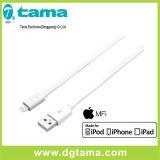 Plat-Ligne certifiée Mfi 6 pieds allumant le câble pour le blanc d'Apple