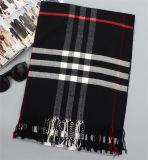 Heißer verkaufender roter Kaschmir-langer warmer Schal (80017-1)
