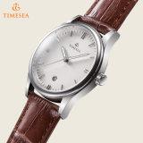 OEM/ODMの腕時計の製造業者のMen72599のためのカスタムステンレス鋼の革腕時計