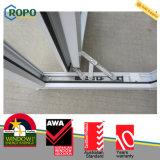 As2047 PVC standard doppio Windows lustrato con colore della venatura del legno