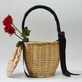 Fabrik-Großverkauf-reine handgemachte Beutel-Qualitäts-Bambuskorb, der Beutel-Frauen-Handtasche mit Schals T113 wandert
