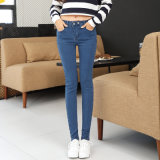 2017 New Fashion Design Lady's Sexy Tight Demin Ripped Jeans