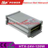 bloc d'alimentation antipluie de l'interpréteur de commandes interactif en aluminium continuel DEL de la tension 24V-120W