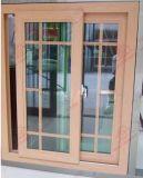 Finestra di scivolamento economizzatrice d'energia della venatura del legno UPVC/PVC (BHP-SW05)