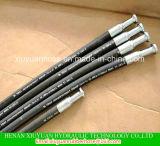 Espiral manguera de alta presión de aceite hidráulico flexible de goma con SAE100r2