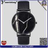 El OEM resistente de agua del reloj de la venta del reloj del cuero de la cara del mármol de la manera Yxl-072 de Mens de los relojes de la promoción de los hombres calientes del cuarzo mira a señora