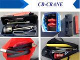 Grúa plegable hidráulica móvil del carro del compartimiento del auge para 2 personas