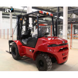 Koninklijke Ruwe Diesel van het Terrein Vorkheftruck met Gemerkte Motor (T40Y)
