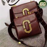 広州の卸し売り本革のハンドバッグ2のサイズの女性ショルダー・バッグ中国製Emg4964