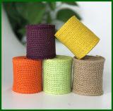 Venda al por mayor el yute coloreado de la tela de la arpillera del yute
