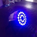 단계 DJ는 UV 64 LED 24 18W RGBW를 홀을 파로 끝낸다