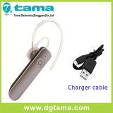 Наушник одиночное Earbud Bluetooth 5 цветов с кабелем заряжателя USB 30cm