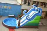 Diapositiva de agua inflable comercial con la piscina (CHSL384-2)