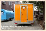 Carro móvil Re-Enforced vidrio del café del acoplado de la cocina de los alimentos de preparación rápida del panel de Ys-Fb390d los 3.9m
