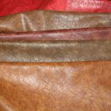 Double Colors Effect Hot Sale de couro PU de alta qualidade para sapatos