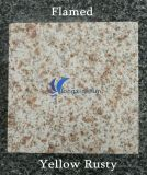 G682 Natural Customized Yellow Rusty Stone Tile