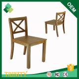 Qualitäts-Eichen-billiger exotischer Kreuz-Rückseiten-Stuhl für Hotel-Wohnung