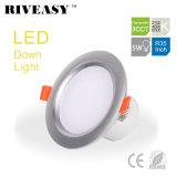 5W 3.5 인치 LED Downlight 스포트라이트 램프 SMD Ce&RoHS 통합 운전사 높은 빛 3CCT