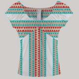 mulheres mais do dashiki africano africano da roupa do tamanho a blusa floral