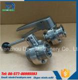 Válvula de mariposa sanitaria de la cuerda de rosca Ss304 del acero inoxidable