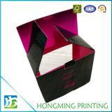 Caixa de empacotamento da caneca lustrosa preta do cartão com indicador do PVC