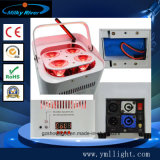 Il partito portatile del laser della discoteca della fase della batteria UV professionale di illuminazione 6pcsx18W RGBWA illumina l'illuminazione senza fili di telecomando LED