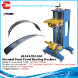 Folha da telhadura do metal da emenda da posição de Manural que dobra-se curvando a máquina