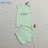 Conjunto unisex el dormir del bebé de la ropa del bebé del color verde