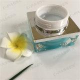 De vierkante 15g Blauwgroene AcrylKruik van de Room voor Kosmetische Verpakking (ppc-acj-093)