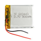 bateria recarregável de Plib do íon do Li-Po do polímero do lítio da bateria 603443 de 3.7V 900mAh para a peça eletrônica móvel do MP3 MP4 MP5 GPS PSP