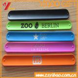 braccialetto su ordinazione di schiaffo del silicone 2017colorful