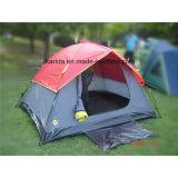 4 Personen-doppelte Schicht-kampierendes Zelt mit halbem Deckel