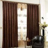 Tela sólida de la cortina de ventana del apagón del nuevo Chenille moderno del estilo
