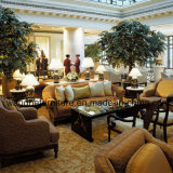 Modernes hölzernes einzelnes Sofa für Hotel-Öffentlichkeits-Bereich