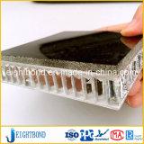 Черная каменная мраморный алюминиевая панель сота для строительного материала