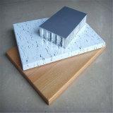 Le nid d'abeilles en aluminium de revêtement de mur extérieur lambrisse les prix (HR743)