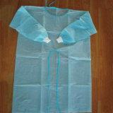 Vestido de aislamiento no tejido desechable con puño elástico / de punto