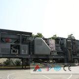 Портативный задавливая завод, портативная дробилка, передвижная дробилка колеса