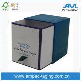 Das Luxuxgeschenk-Verpacken bestellte Würfel-Packpapier-Kerze-Kasten mit Kappe voraus
