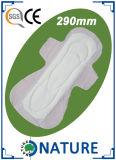 290mm 면 표면 처분할 수 있는 매우 얇은 위생 패드