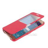Задняя сторона обложки Flip кожи касания окна взгляда магнита на iPhone 7 7plus