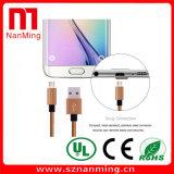 비용을 부과하는 마이크로 USB 및 땋아지는 Samsung를 위해 길쌈하는 데이터 Sync 코드 케이블 직물